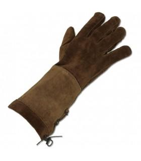 Mittelalterliche braune Handschuhe