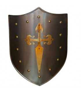 Escudo Cruz Santiaguista latonado