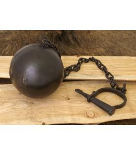 Grillete con cadena y bola