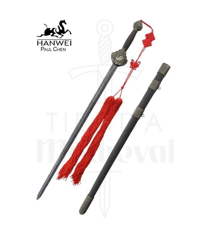 Espada Jian, acero de Damasco