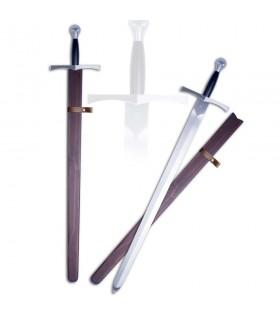 Espada medieval funcional con vaina