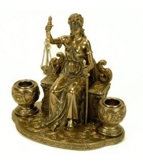 Miniatura portavelas Temis, diosa de la Justicia