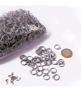 Bolsa anillas galvanizadas cota malla, 9 mm.