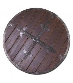 Escudo vikingo madera, 61 cms.
