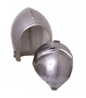 Bacinete alemán con visor, s. XIV