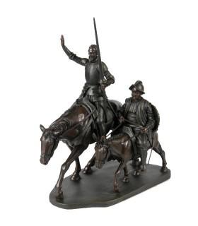 Miniatura Quijote y Sancho a caballo