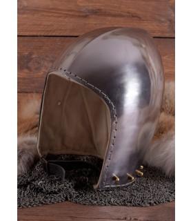 Bacinete funcional siglo XIV con visor, 2mm.