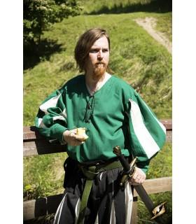 Camisa soldado Renacentista, verde-blanca
