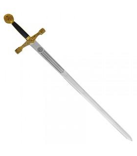 Espada Excálibur con soporte