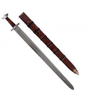 Funktionelle Wikingerschwert mit Scheide