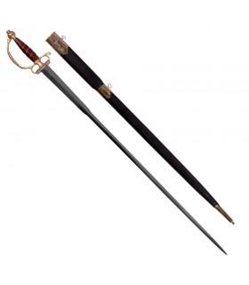 Europäische Schwert mit Scheide, XVIII Jahrhundert