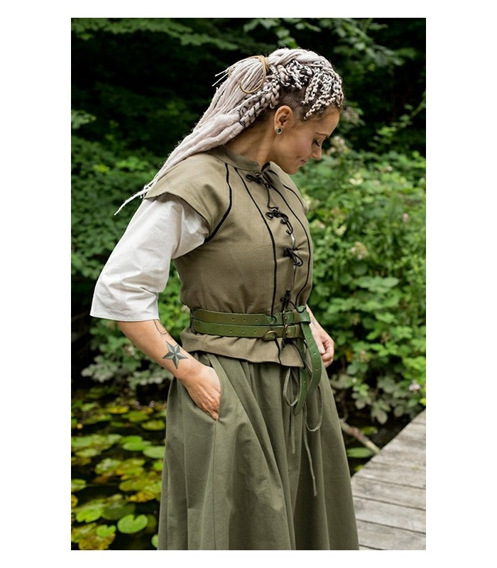 Chaleco medieval mujer Tristan