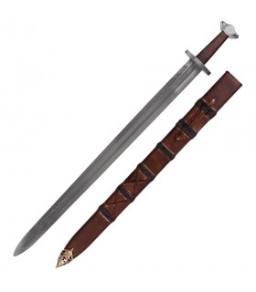 Espada vikinga puntiaguda con vaina