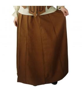 Falda medieval mujer Tabaco