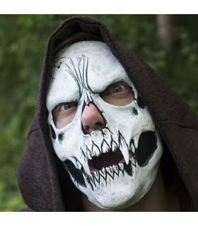 Máscara calavera blanca ajustable