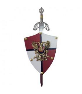 Mini-escudo Aguila Bicéfala (11x14,5 cms.)
