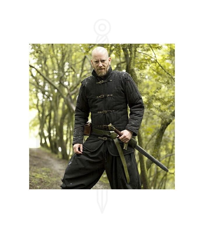 Hagamos un trato (Götz) [Rol con master] Gambeson-medieval-acolchado-negro