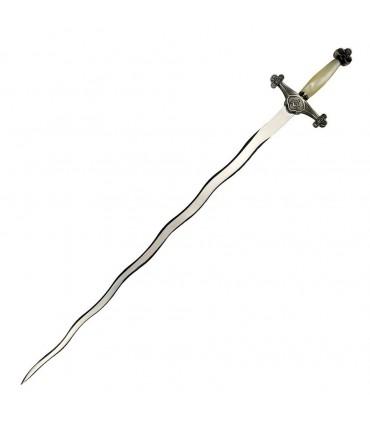 Espada Masónica flamigera plata