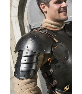 Hombreras medievales acero oscuro