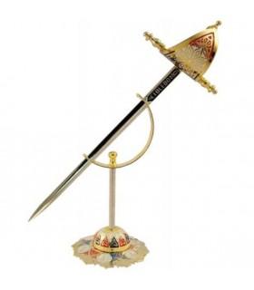 Mini-daga Renacimiento con soporte