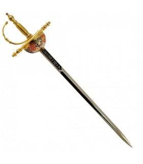 Abrecartas espada cazoleta Toledo