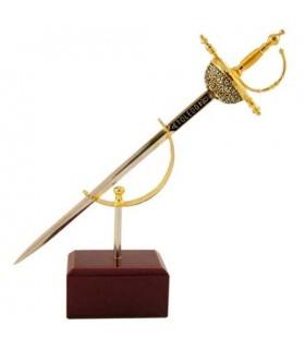 Miniatura Espada Cazoleta Damasquinada