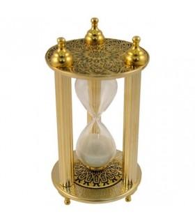 Reloj arena Damasquinado, 11 cms.