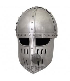 Cruzados Helm mit Visier Spangen