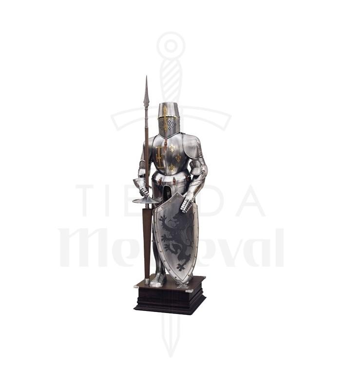 Armadura natural con escudo y lanza
