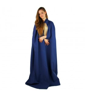 Capa medieval azul larga