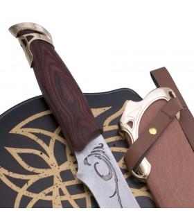 Cuchillo Elfo con vaina y soporte