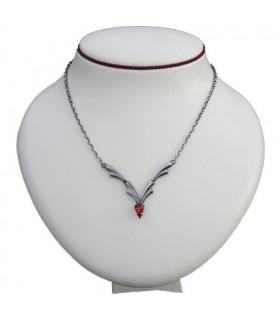 Colgante medieval perla cristal rojo