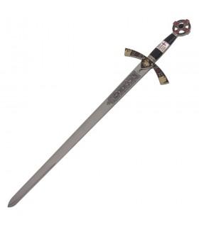 Espada Templaria cadete decorada. 76 cms.