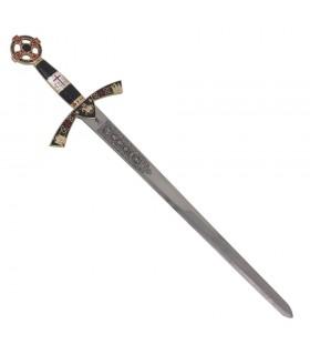 Espada Templaria cadete dorada. 76 cms.