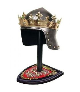 Corona Rey Medieval en latón