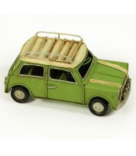 Miniatura coche antiguo verde