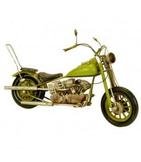 Miniatura moto antigua Harley