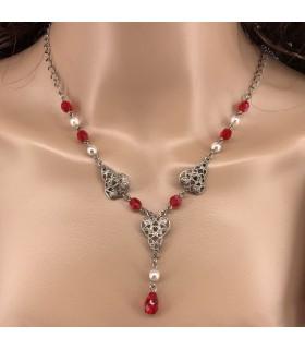 Colgante con perlas de cristal