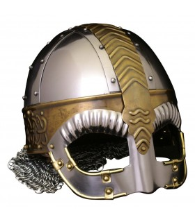 Casco medieval con visera Beowulf