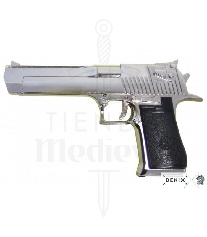 Pistola semiautomática niquelada USA, Israel 1982