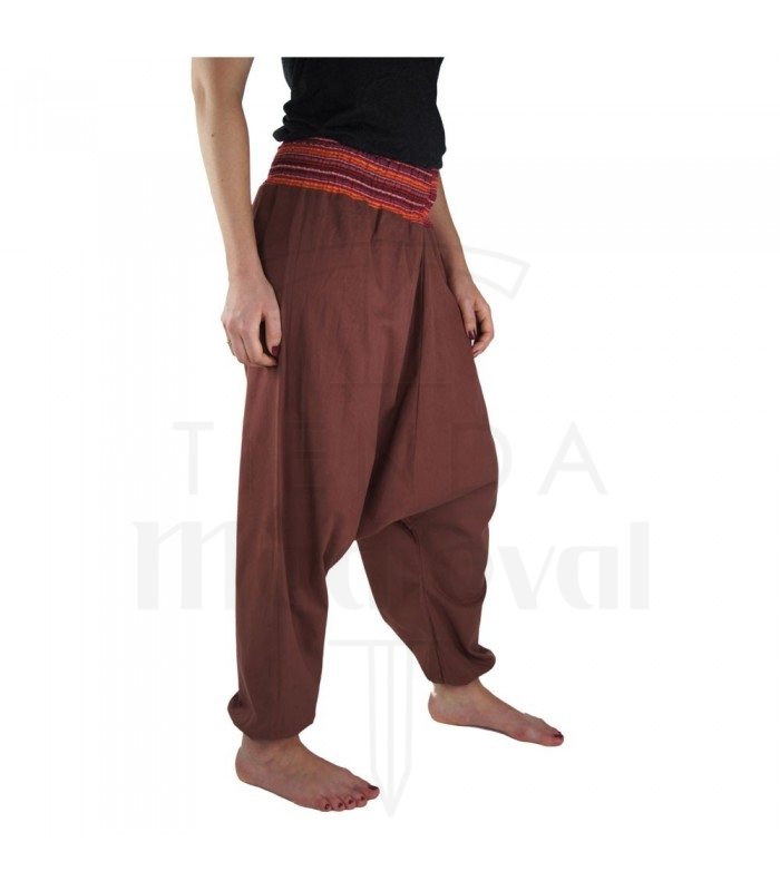 Pantalón ancho Jessie, rojo marsala