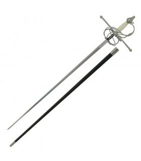 Espada Rapiera, puño hueso