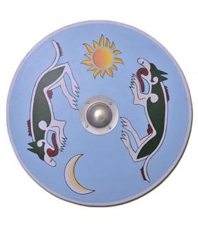 Escudo vikingo Mánagarm y Sköll