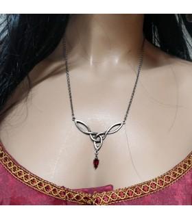 Colgante medieval perla cristal