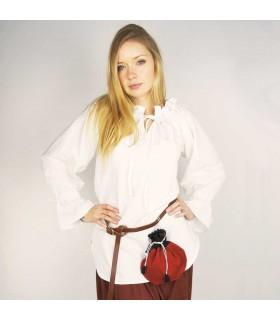 Blusa medieval Morgan blanca