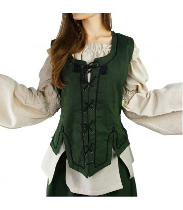 Chaleco medieval mujer verde