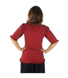 Blusa medieval algodón fino manga corta