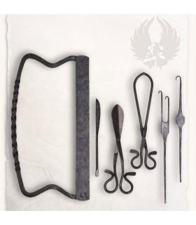 Set Quirúrgico medieval 6 herramientas
