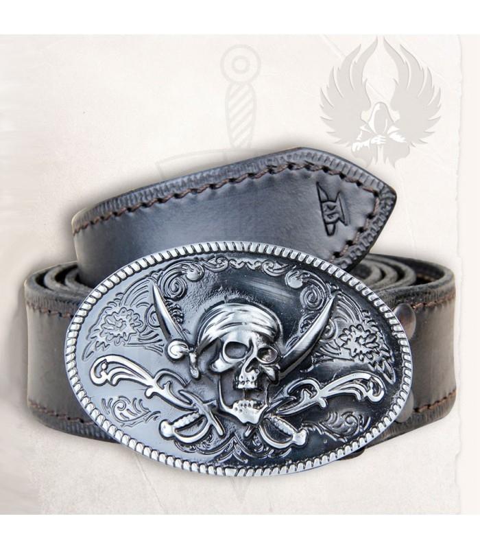 Cinturón Pirata en cuero