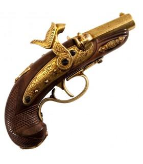 Pistola Deringer Filadelfia percusión, USA 1862 latonada